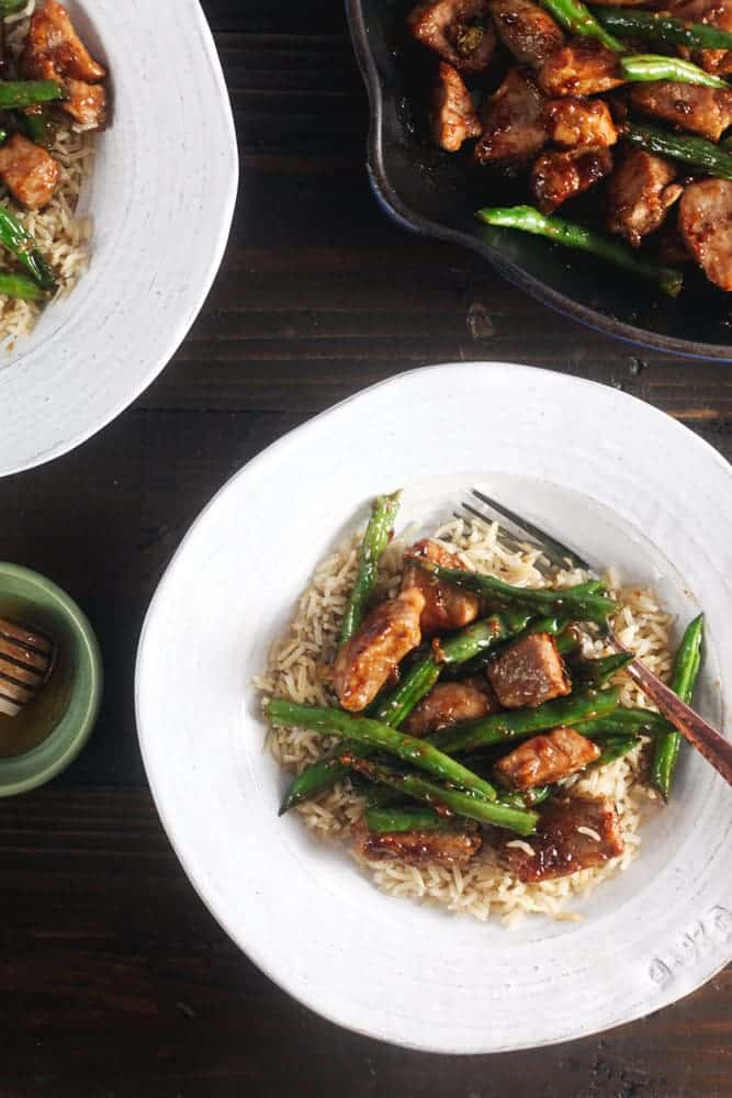 Honey-Ginger Pork Stir Fry with Green Beans 1