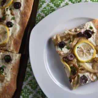 Lemon, Fennel + Olive Pizza