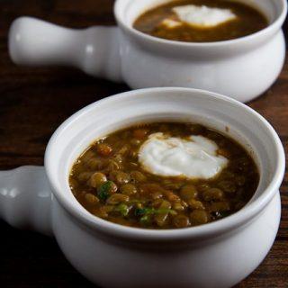 Roasted Eggplant and Lentil Soup