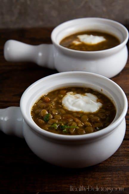 Roasted Eggplant and Lentil Soup 1
