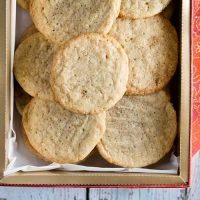 Maple-Walnut Butter Cookies