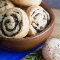 Mushroom + Parmesan Pinwheels