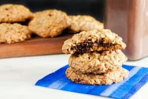 Nutella Stuffed Oatmeal Cookies (Gluten Free) 3