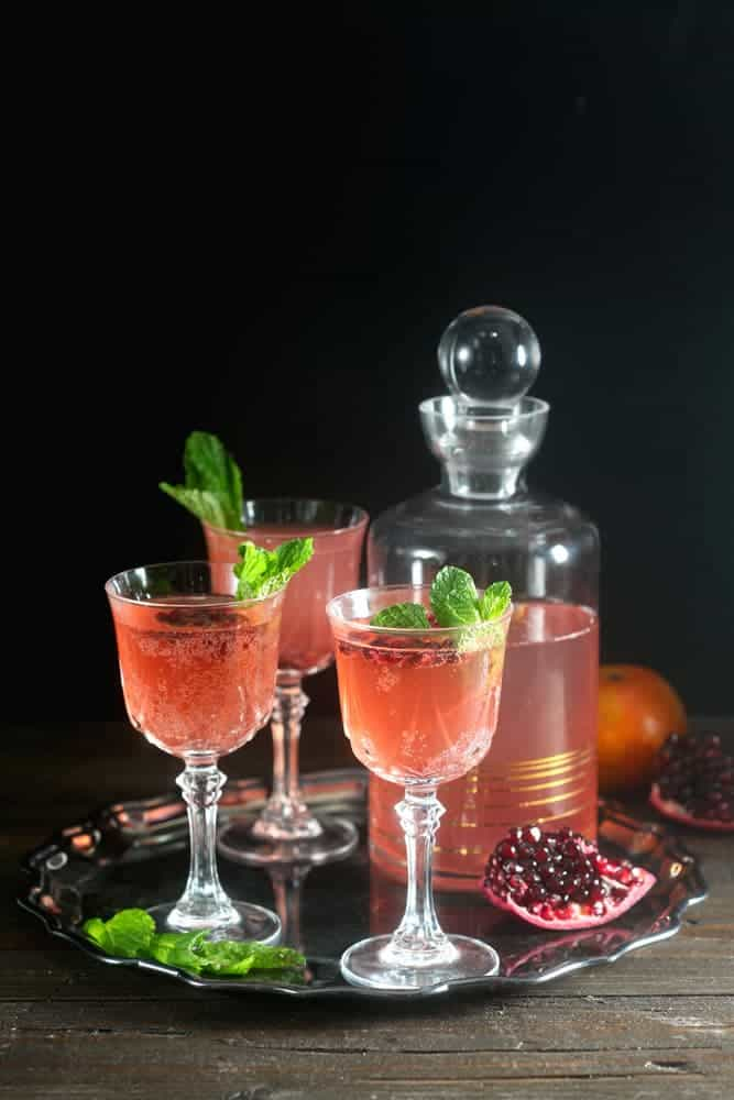 Sparkling Pomegranate Tangerine Rum Punch for the Holidays 1