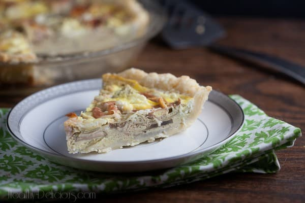 Prosciutto and Artichoke Quiche 1
