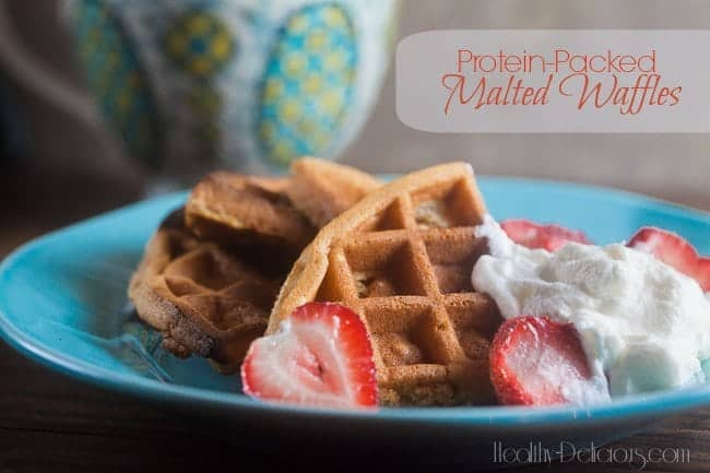Protein-Packed Malted Waffles 1
