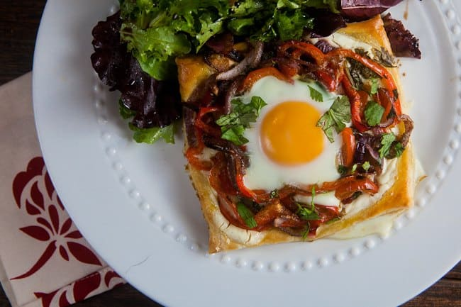 Roasted Red Pepper and Egg Tarts 1
