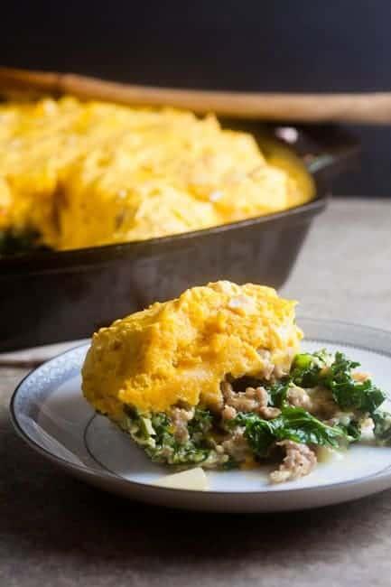 Sausage and Kale Breakfast Casserole 1
