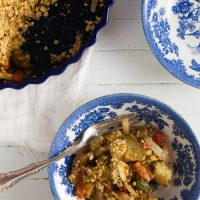 Savory Vegetable Crumble (Vegan and Gluten Free)