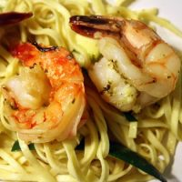 Meat-Free Friday: Shrimp Scampi over Linguini with Zucchini