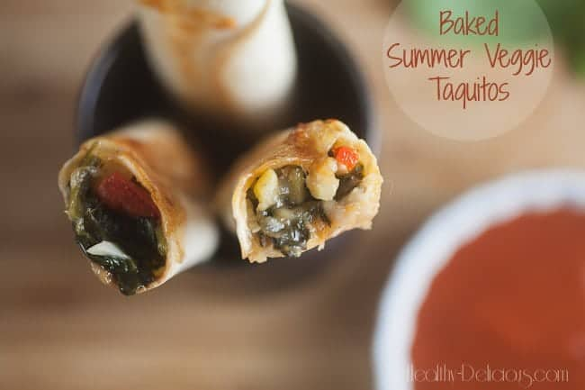 Baked Summer Vegetable Taquitos 1