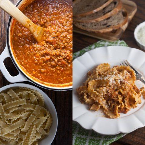 Veal + Lentil Bolognese
