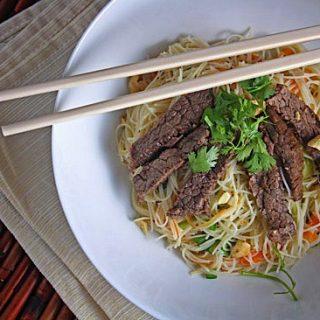 Vietnamese Braised Beef Rice Noodle Salad