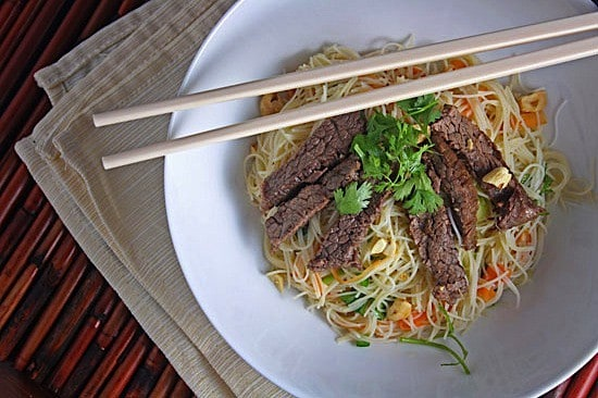 Vietnamese Braised Beef over Rice Noodle Salad 1
