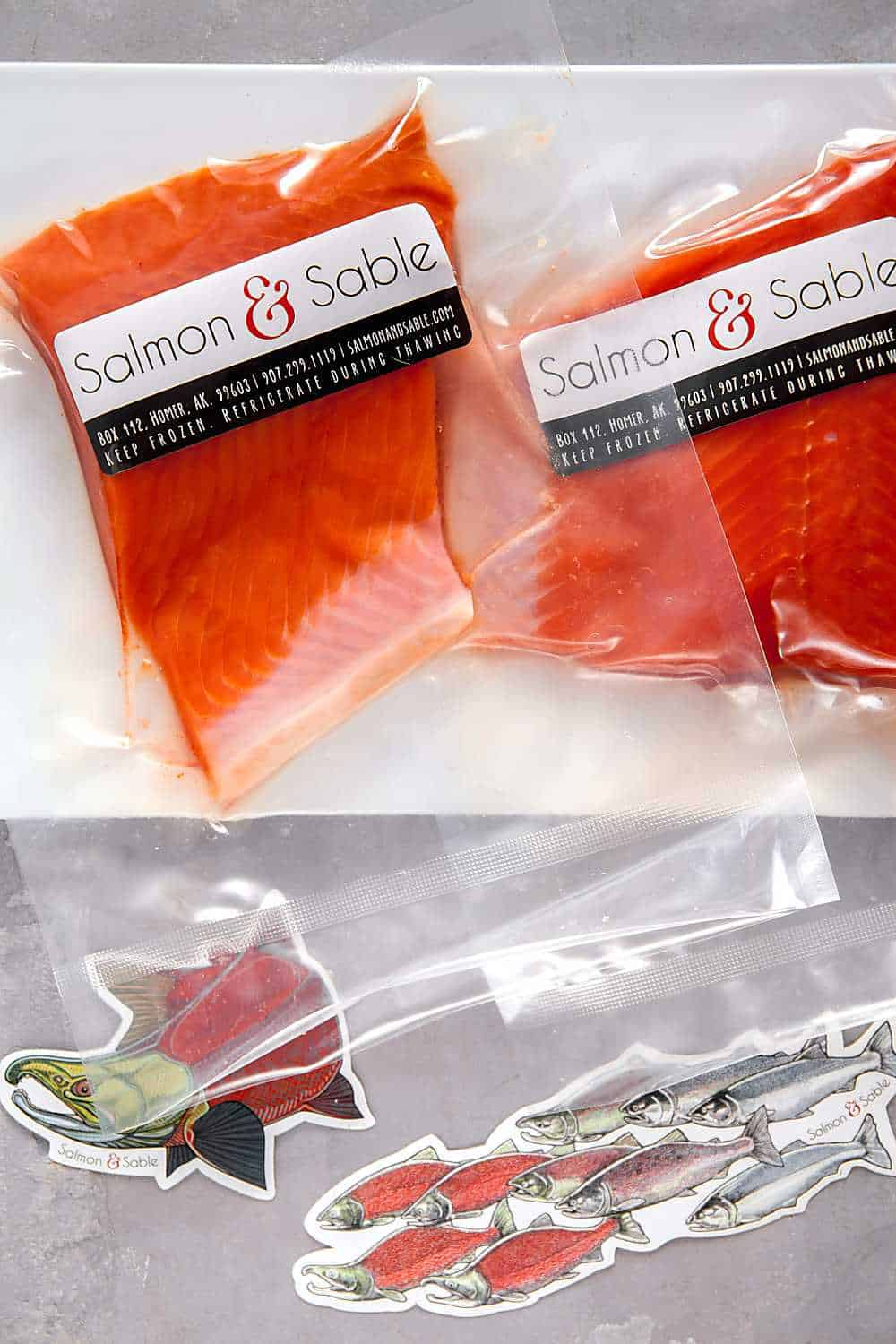 wild Alaskan salmon filets