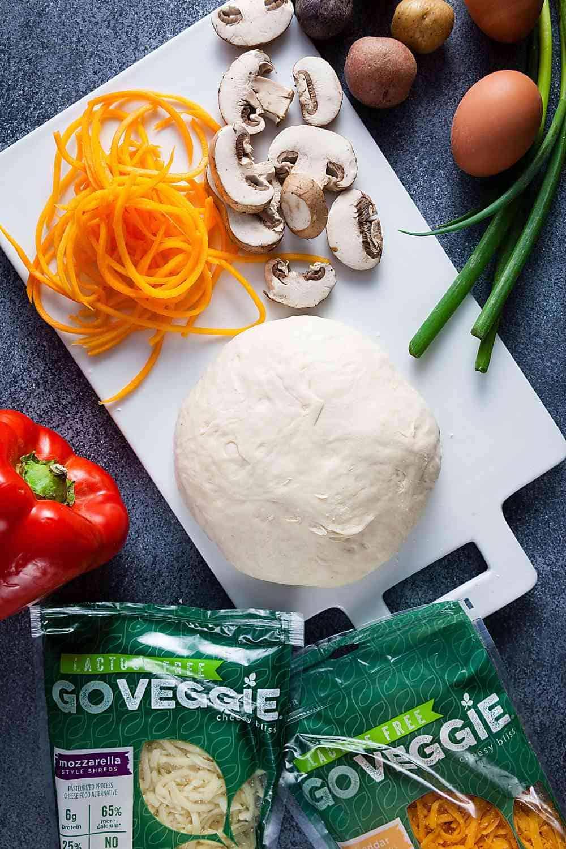 Vegetable Breakfast Pizza