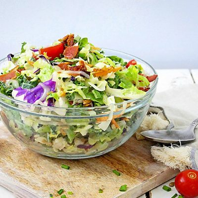 Crunchy Chopped Salad with Asian Dressing (Gluten-Free, Paleo)