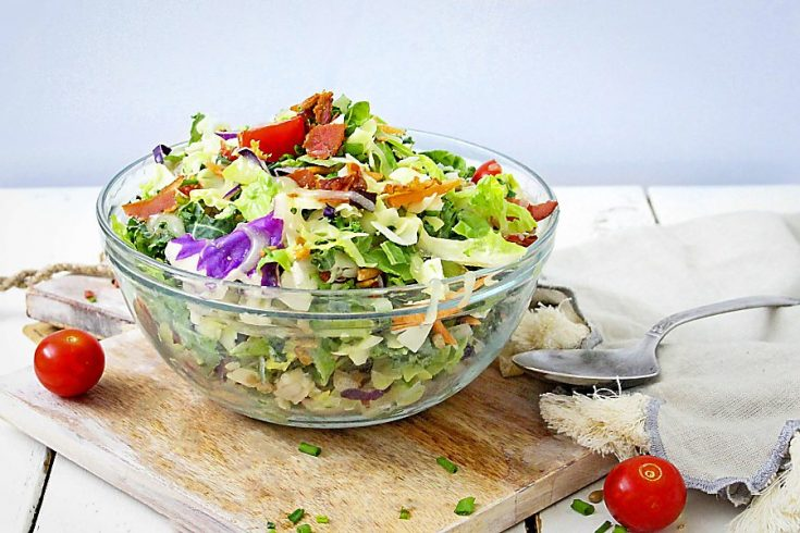 Crunchy Chopped Salad with Asian Dressing (Gluten-Free, Paleo) 1