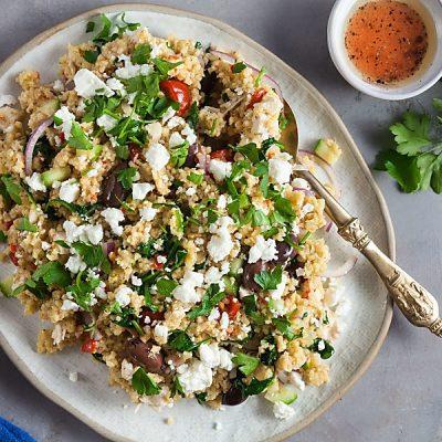 Millet and Chicken Greek Salad (Gluten-Free)