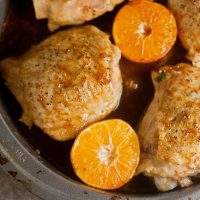 Clementine-Soy Glazed Chicken Thighs