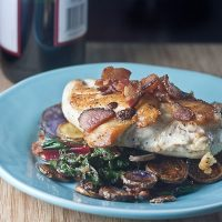 Chicken with Potatoes, Bacon & Chard