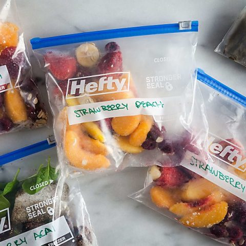 strawberry peach smoothie freezer packs