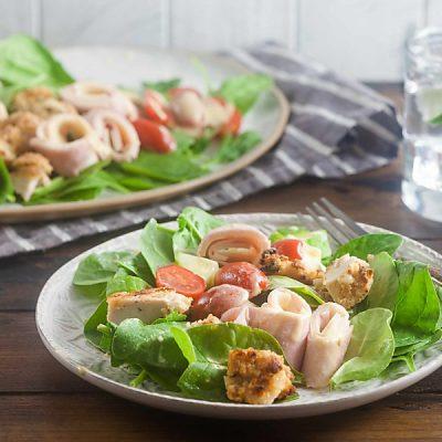Air Fried Chicken Cordon Bleu Salad