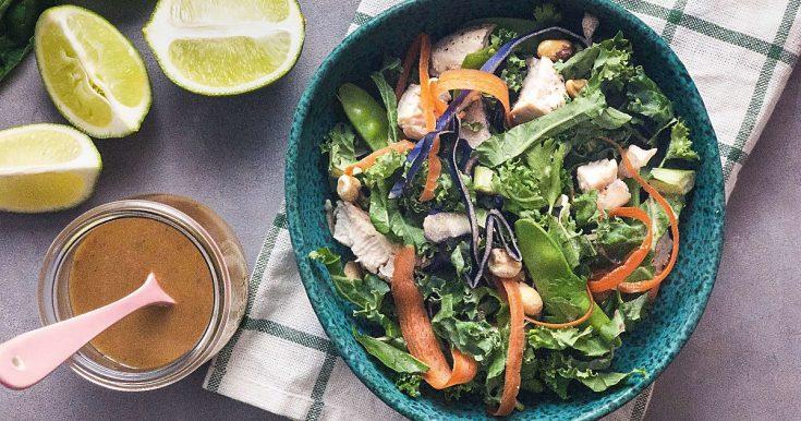 Thai Chicken Salad with Spicy Peanut Dressing 1