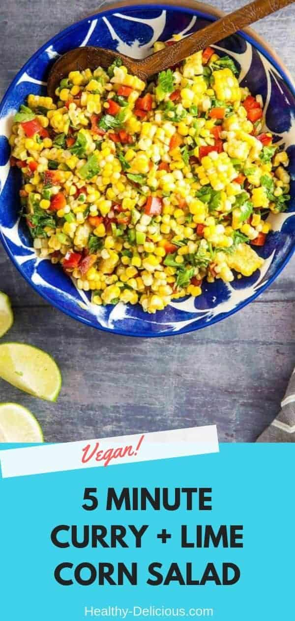5-Minute Summer Corn Salad with Curry and Lime (Gluten-Free) 1