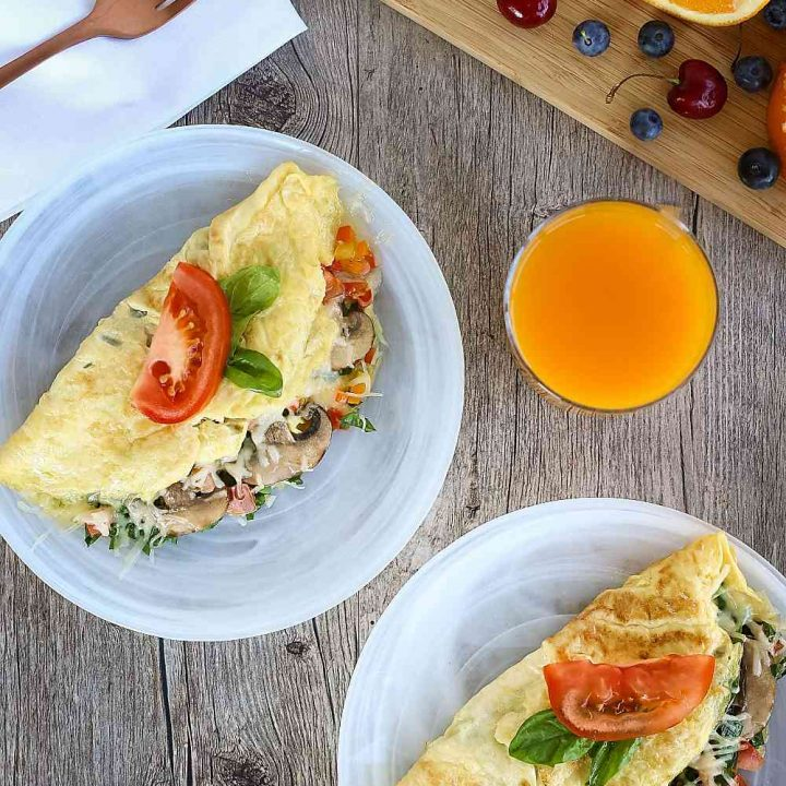 Vegetarian Omelet with Spinach