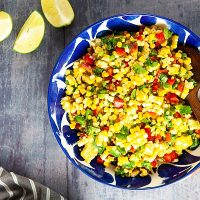 Summer Corn Salad with Curry and Lime