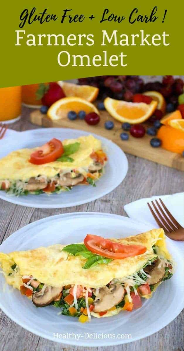 Farmers Market Omelet with Spinach 1