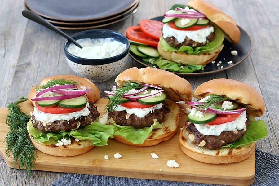 Greek Burger with Feta and Tzatziki 8