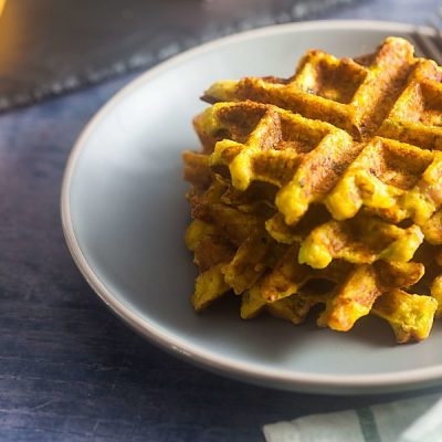 Savory Chaffles with Ham and Jalapenos (Low Carb, Gluten Free)