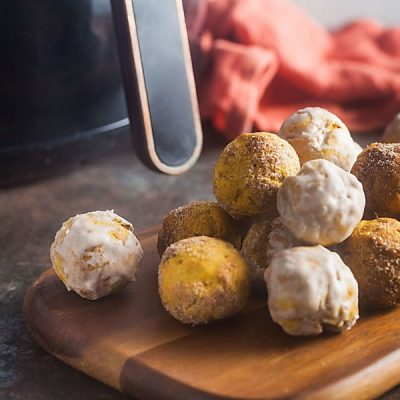 Air Fryer Pumpkin Spice Donut Holes