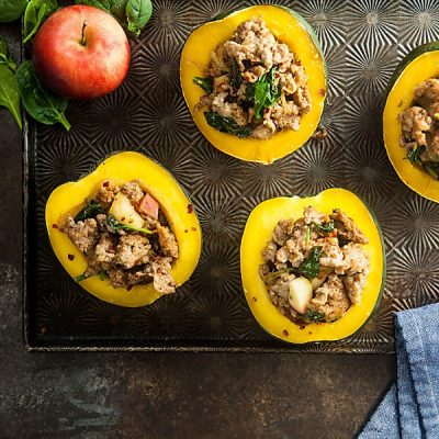 Sausage Stuffed Acorn Squash (Gluten-Free, Low Carb, Whole 30)