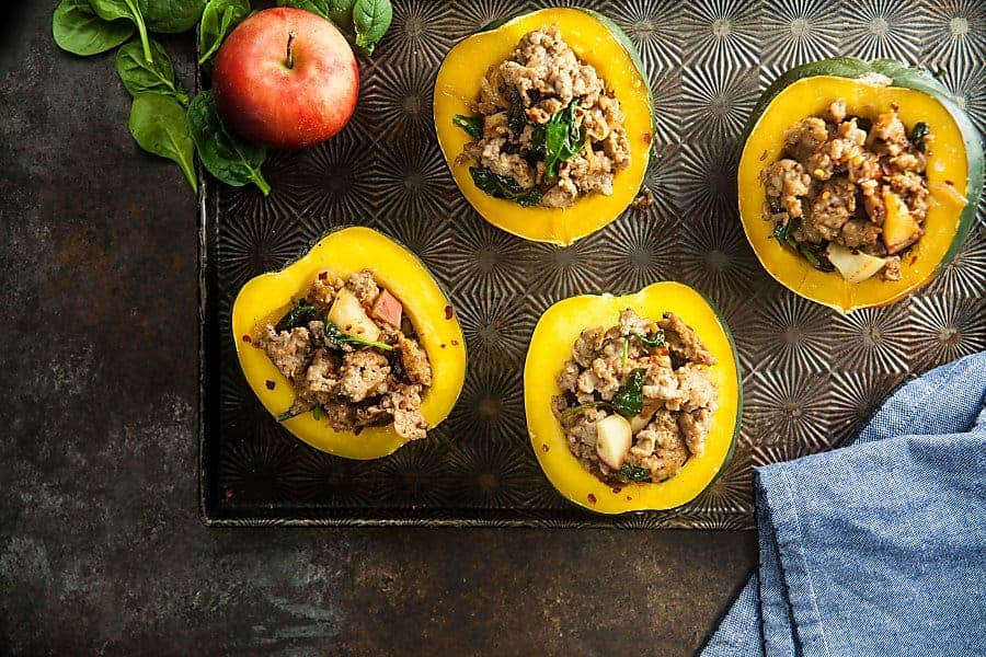 Sausage Stuffed Acorn Squash (Gluten-Free, Low Carb, Whole 30) 1