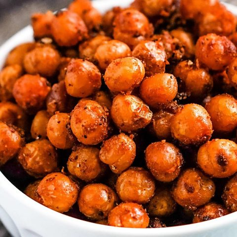 Spicy Buffalo Roasted Chickpeas