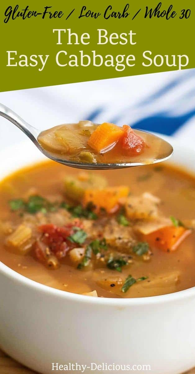 The Best Easy Cabbage Soup (Low Carb, Gluten-Free, Dairy-Free) 1