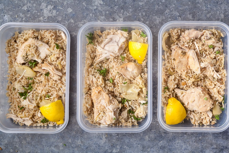 meal prep lemon chicken