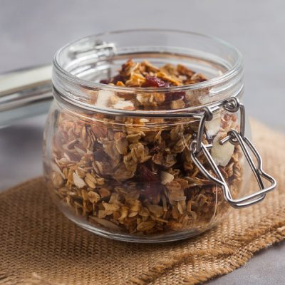 Slow Cooker Granola with Cherries and Almonds