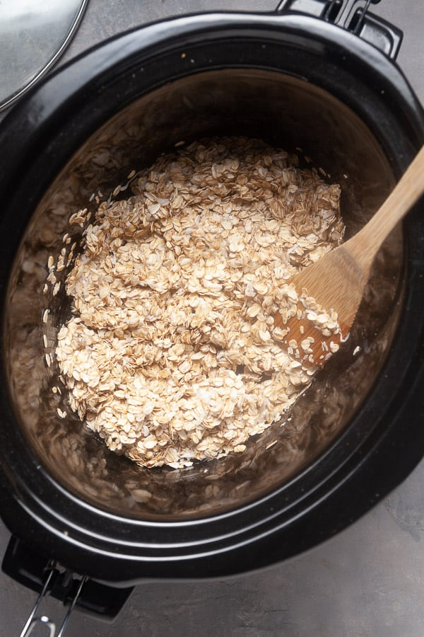 Making granola in a crockpot