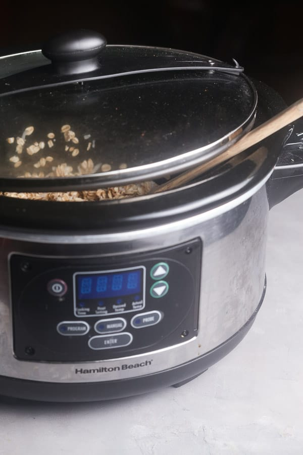 prop the lid open while the slow cooker granola bakes