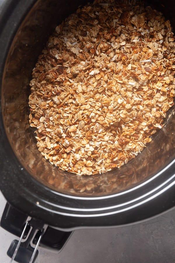 Crispy slow cooked granola!
