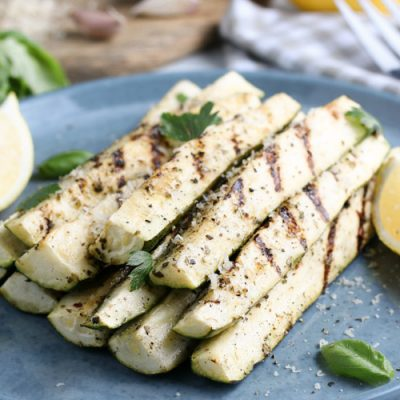 Grilled Zucchini (Low Carb, Gluten Free, Whole 30)