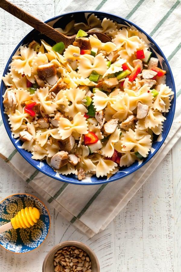 lemon pasta salad with chicken