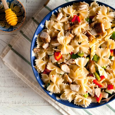 Lemon Pasta Salad with Grilled Chicken