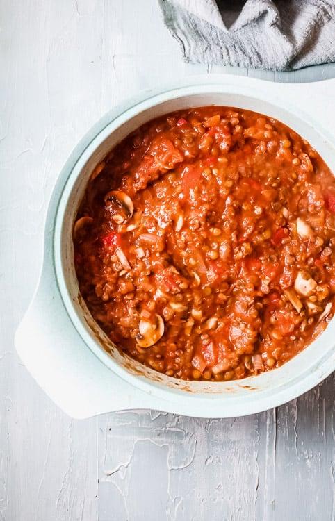Making the base tomato sauce
