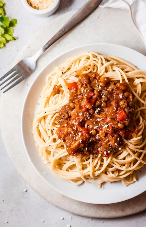 Mushroom and Lentil Bolognese (Vegetarian) 1