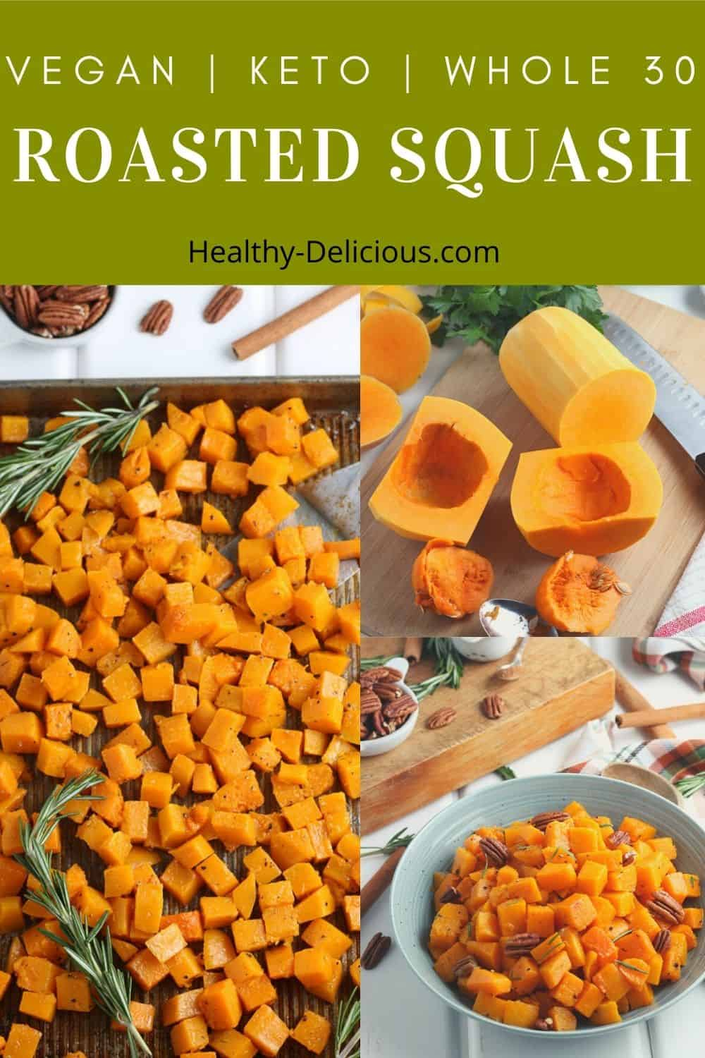 This roasted butternut squash recipe is the perfect healthy side dish for your favorite fall meals, in soups, or as an additional topping to your salad. It's super versatile and so easy to throw together! via @HealthyDelish